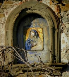 A road shrine for Our Lady of Sorrows near Firenze