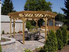 Free-standing Pergola - Octagon Shape - Patio Designs and Hardscapes Photo Gallery - Archadeck of Charlotte