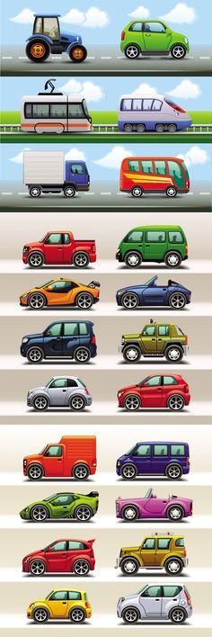 Cute cartoon car creative vector material - Vector Car free download