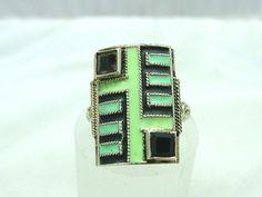 "Rare Art Deco ""Theodore Fahrner""  Silver, Enamel Agate Set Ring circa 1920's--so gorgeous and glam."