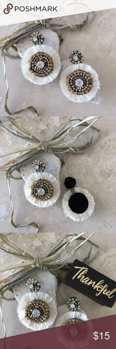 """ⓃⒺⓌIvory Crystal Earrings ⓃⒺⓌCrystal Earrings Crystal Earrings Earrings - 2"""" Lead & Nickel Compliant FREE WITH PURCHASE: Cute little organza drawstring pouch for storage or for gifting Bundle & Save!! 10% 3+ items No Trades MischkaPu Jewelry Earrings"""