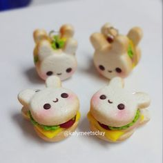 """93 Likes, 6 Comments - Kit-Kay (@kalymeetsclay) on Instagram: """"Here are some bunny-shaped sandwiches. Saw the idea on my insta feed yesterday and here's my…"""""""