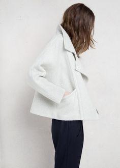 Premium – asymmetrischer wollmantel - Damen | MANGO