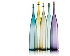 Colorful hand blown glass Tapered Bottles by Vetro Vero http://www.vetrovero.com/store/p8/Smoky_Tapered_Bottles.html