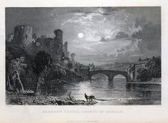 BARNARD CASTLE COUNTY OF DURHAM Engraved by J W Lowry after Thomas Allom Published London 1833 by Fisher Son Co An attractive and finely executed