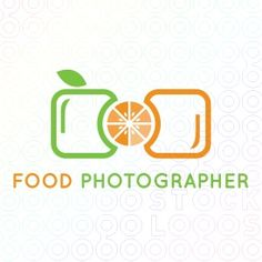 I love this combination logo. I love the use of complementary colors. I like them because they are almost citrus-like. Also I like how the green apple and orange are in a shape that appears to create a camera which fits the company perfectly for photographing food products. Logo by Melanie D on stocklogos.com