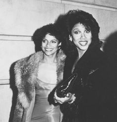 """Sisters Debbie Allen and Phylicia Rashad attending """"Kennedy Center Honors Awards"""" on December 2, 1984 at the Kennedy Center in Washingon, D.C. (Ron Galella, WireImage)"""