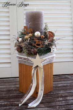 Ber ideen zu windlichter basteln auf pinterest for Weihnachtsgestecke aus naturmaterialien