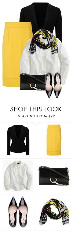 """Wear it in a Mustard Skirt Contest"" by mindy-2-1 ❤ liked on Polyvore featuring Roland Mouret, Marni, J.Crew, Chloé and Dsquared2"
