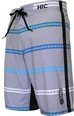 HIC 21 Alewa Stripe Octo Super Stretch Boardshorts Silver 36 ** Offer can be found by clicking the VISIT button