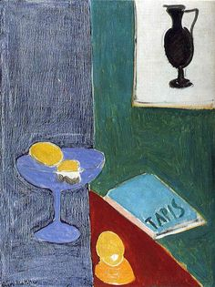 Henri Matisse - Still LIfe with Lemons Which Correspond in Form to a Drawing of a Black Vase on the Wall 1915