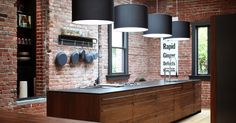 Top secrets on how to create Industrial kitchen style with industrial chic decor and furniture, industrial kitchen island, cabinets, table, dining table, shelving and industrial style lighting, industrial home decor and kitchen interior design