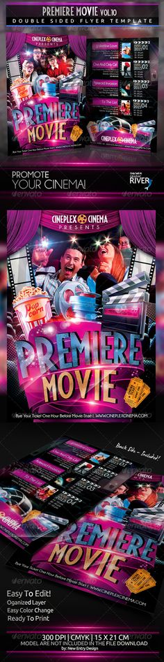 Premiere Movie Vol10 2 Full layers PSD Files: A5 Front 1521,2 cm 17722504 px 300 DPI CMYK A5 Back 1521,2 cm 17722504 px 300 DPI CMYK The free fonts used in the design are: Fiesta: which can be downloaded here http://www.dafont.com/fiesta.font Ub