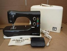 NICE NECCHI SILVIA MAXIMATIC ELECTRONIC SEWING MACHINE W/ CASE & PEDAL  - ITALY