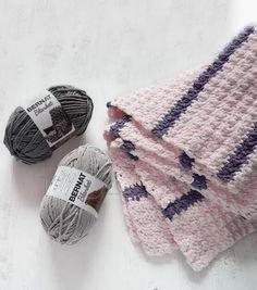 How To Make Bernat Blanket Pin Stripe Crochet Blanket Online | JOANN