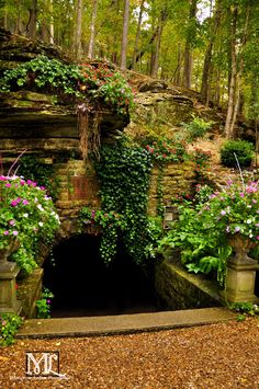 Entrance to Grotto Springs, Eureka Springs, Arkansas. One of several natural springs in this gorgeous mountain city!  Photo: Marquette LaRee Photography