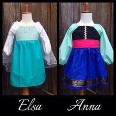 ELSA Frozen Everyday Princess Dress by MyOhSewSweetDesigns on Etsy, $40.00