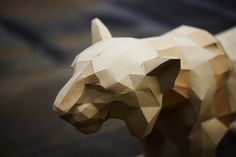 facetted cardboard tiger. Now available in DIY kit