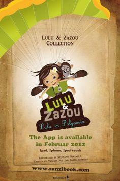 Illustrateur jeunesse – affiche illustrée Lulu et Zazou – édition Zanzibook