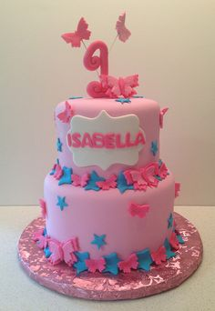 Butterfly First Birthday Cake | Flickr - Photo Sharing!