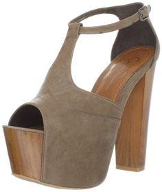 bd620d151 New Jessica Simpson Dany Platform Heels Coffee Summer Haze Shoes Sz 8 B 38  39 EU
