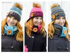 Crochet hats patterns  Patrons de tuques au crochet