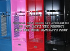 Want to surprise that football fan in your home? Check out our awesome stadium lockers--guaranteed to score big points with that ultimate football fanatic in your life!