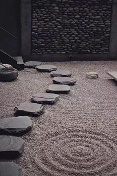 Need Japanese Garden Ideas? A lot of people have taken an interest in Japanese gardening, in recent times. Like any other pastime, gardening is a hobby that is enjoyed more when you have received the proper infor Japanese Rock Garden, Zen Rock Garden, Japanese Garden Design, Japanese Interior, Japenese Garden, Zen Style, Japanese Architecture, Wabi Sabi, Backyard Landscaping
