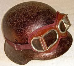 1960 STEAMPUNK MOTORCYCLE AVIATOR GOGGLES VINTAGE ANTIQUE UNUSUAL DIVIDED GLASS