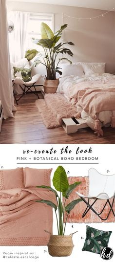 7 Gorgeous Pink Bedrooms That You Can Totally Recreate at Home - Hey, Djangles. Recreate the look, neutral modern bohemian bedroom by pink 7 Gorgeous Pink Bedrooms That You Can Totally Recreate at Home Romantic Master Bedroom, Stylish Bedroom, Master Suite, Bedroom Classic, Bedroom Simple, Beautiful Bedrooms, Bohemian Bedroom Decor, Home Decor Bedroom, Bedroom Ideas