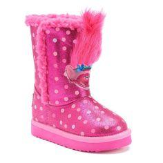 DreamWorks Trolls Poppy Toddlers' Plush Boots, Girl's, Size: