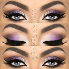 If you'd like to enhance your eyes and also increase your good looks, using the very best eye make-up tips can help. You need to be sure you put on makeup that makes you start looking even more beautiful than you are already. Purple Eye Makeup, Colorful Eye Makeup, Skin Makeup, Eyeshadow Makeup, Silver Makeup, Grey Eyeshadow, Purple Smokey Eye, Pop Of Color Eyeshadow, Eyeshadow Palette