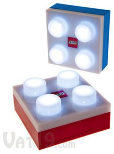 LEGO Portable LED Brick Light: 4 bright LEDs with removable wall plate Legos, Deco Lego, Boy Room, Kids Room, Minifigures Lego, Mega Pokemon, Lego Wall, Lego Bedroom, Lego Storage