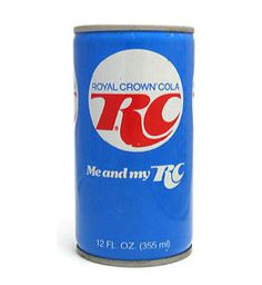 RC Cola - another lovely version of the favourite. And the quantity, 355 ml cans. Now we're used to 330 ml...