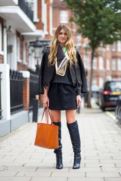 What wear to boots #fashion #women #girls #ladies #feminine #shoes #boots #heels #couture #chic #overtheknee #street #style #business #outfit #beauty #model #otk #nyfw #photography