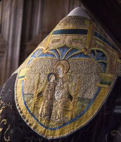The coronation robe of Catherine of Aragon forms part of the Throckmorton collection.