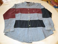 Tommy Hilfiger Mens long sleeve button up shirt striped cotton L large NWOT @ #TommyHilfiger #ButtonFront