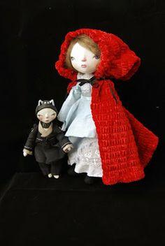 Little Red Riding Hood, by MissSophie7 Art dolls (Handmade paperclay art doll).