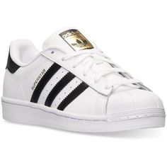 adidas Women's Superstar Casual Sneakers from Finish Line (275 BRL) ❤ liked on Polyvore featuring shoes, sneakers, adidas trainers, adidas, adidas shoes, long shoes and retro sneakers