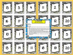 Are you looking for a LOW PREP math activity for preschool, kindergarten, of first grade? Then download this product and go!  Enjoy this number resource which is comprised of a color version of a WEATHER themed NUMBER COMPARISON war style card game.  Children will identify numbers (1-20) on each of the THIRTY cards.  They also will compare the value of the numbers.  ALL YOU NEED TO DO IS PRINT AND CUT THE CARDS APART. You can laminate the cards for durability.