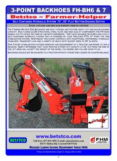 Built in pump design allows backhoe to operate with tractor at an idle.