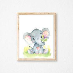 Elephant Nursery Print. Elephant Print. Nursery Print. Nursery