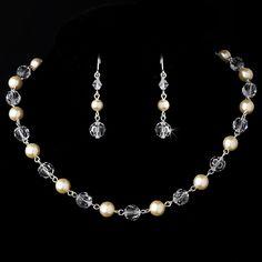 Ivory Pearl and Swarovski Crystal Wedding Jewelry Set