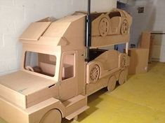Sports car transporter bunk bed. The ultimate cool bunk for any child :-) www.facebook.com/dreamcraftfurniture