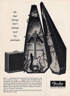 1958 FENDER BASS GUITAR Music Advertisement Coffin by phorgotten