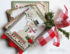 Simple Stories' Handmade Holiday Mini Album by Shellye McDaniel