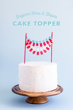 Perfect DIY cake idea for the 4th of July!
