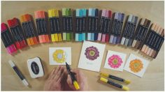 Stampin' Blendabilities - Stampin' Up's new line of alcohol markers.  Also shows the new color lifter pen, Memento Tuxedo Black ink Pad and the new Blended Blooms single stamp.  All 12 of the new featured colors and the skin tones collection from the 2014-2015 catalog.