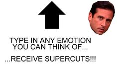 Type in any emotion word in this machine, and discover hundreds of supercuts of stares made by every character in The Office!