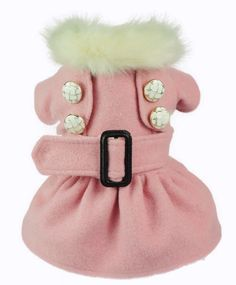 Faux Fur Princess Dog Coat
